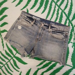 Gap distressed best girlfriend jean shorts
